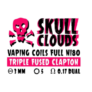 SKULL CLOUDS TRIPLE FUSED CLAPTON 0.17